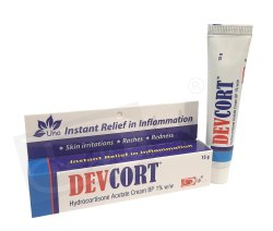 Hydrocortisone Acetate Cream BP 1% W/W (DEVCORT)