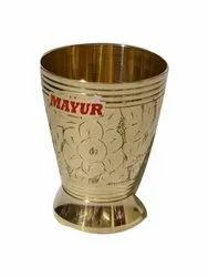 Golden Polished 200mL Brass Water Glass, For Home