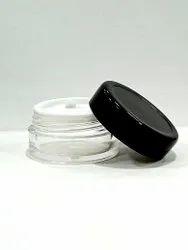 8 Gm Acrylic Cream Jar Set With Golden Cap And Silver Cap