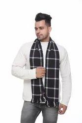 Men Check Woolen Scarves