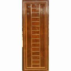 Brown Hinged Mirror P V C Door Fibar, For Home