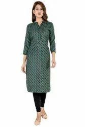 Semi Pashmina Casual Wear Ladies Stylish Woolen Kurti, Wash Care: Handwash