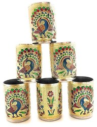 Meenakari Glass Set/2 Home/Table Decorative Showpiece