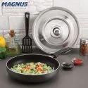 Magnus Optima Non-Stick Aluminium Fry Pan,(280 mm) Bakelite Handle, Hammertone Finish