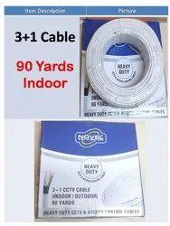 V4M White 3+1 Cctv Indoor Cable