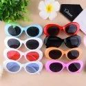White Clout Goggles Sunglasses Women Men Retro Oval Sunglasses Girls Boys Sunglasses Y2k B2253