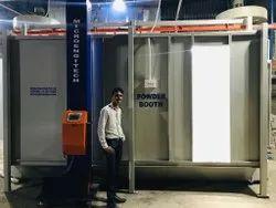 Micro Engitech Mild Steel Powder Spray Booth, Cross-Flow Type, Automation Grade: Semi-Automatic