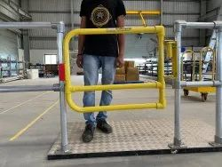 single side openable safety swing gate