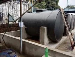 Horizontal HDPE Spiral Chemical Tank