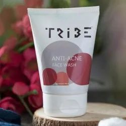 Tribe Herbal Acne Face Wash 100 Ml, Cream