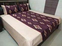 ABC Textile House 240TC Pure Cotton Printed King Size Bedsheet & 2 Pillow Covers (100x112 Inches)