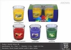 Round Scented Votive (B) Pack of 2