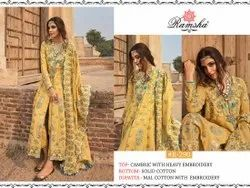Yellow Hand Embroidered Suits