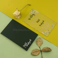 Floral Acrylic Shaadi / Wedding Invite