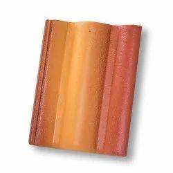 Curve BMI  Monier Elabana Concrete Roof Tile : Color : Sunrise Red, Dimensions: 13 X 17 Inch (w X H)