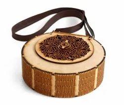 Antique laser cut Laides Wooden purse / clutches, Size: Meduim