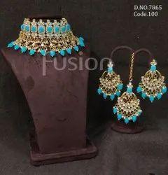 Fusion Arts Handmade Pearl Choker Necklace Set