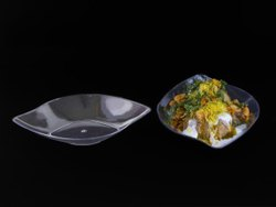 Transparent 200ml Glass Pan Plate, For Restaurant