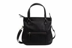 Black Cotton Small Ladies Bag