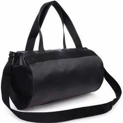 Black Polyester Gym Bag