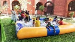 Yellow + Blue PVC Swimming Pool, For Hotels/Resorts, Dimension: 15 X 15 Ft