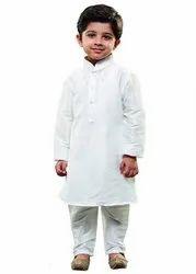 White Kids Kurta Pajama