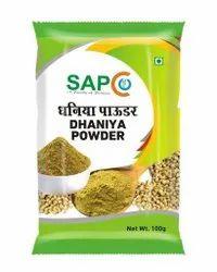 Green Sapco Dhaniya Powder, Packaging Size: 100gm