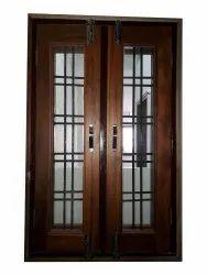 Brown Modern Sagwan Wood Window, Rectangular, Size/Dimension: 4 X 2 Feet (H X W)