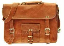 Unisex Fashion Leather Bag, Size: 15x11x3