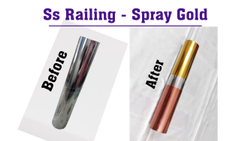 Round Stainless Steel Gold Plating, Material Grade: Imported Solution, Size: 1 Set