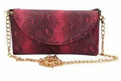 Brown Pu Leather Ladies Designer Sling Bag