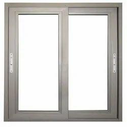 Aluminum Gray Aluminium Windows With Fixed Glasses