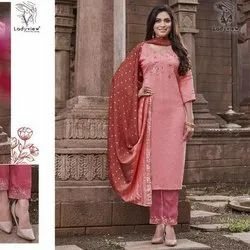 Exclusive Readymade Embroidery Dress With Dupatta