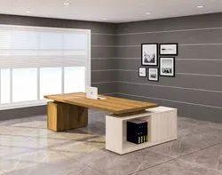Prelam Particle Board Omega Director's Table In Classic Oak