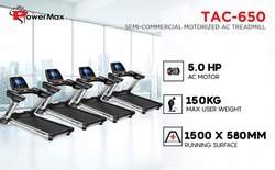 TAC-650 Semi-Commercial Motorized AC Treadmill