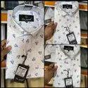 Men Dotted Cotton Shirt