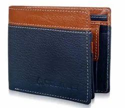 Blue & Brown Bi Fold Cosmus Men Fancy Leather Wallet, 2