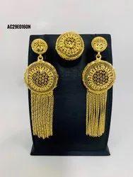 Simple Design New 1 Gram Gold Plated Earrings