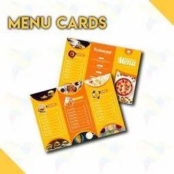 Paper Food Menu Cards Printing Service, In Mumbai, Customisable