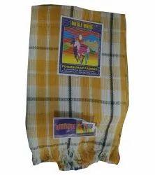 450g Checked Cotton Towel, Size: 150 X 60 X 11cm