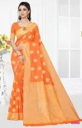 Ladies fancy cotton silk saree