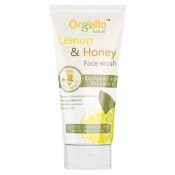 Herbal Orgello Lemon & Honey Face Wash, Age Group: Adults, Packaging Size: 100 ml