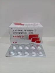 Diclofenac Potassium Paracetamol With Serratiopeptidase Tablets