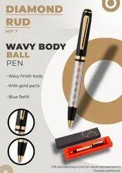 Wavy Body Ball Pen Diamond Rud