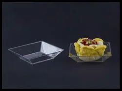 Transparent Small Square Glass Plate, For Restaurant, Size: 200ml