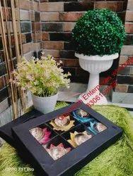 Flower Shape Metal Diwali Diya Set of 6 Pcs