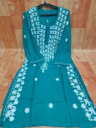 Embroidered Ethnic Wear Chikankari Rayon Kurti