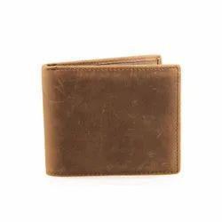 Brown Bi Fold Designer Mens Leather Wallet, Card Slots: 6