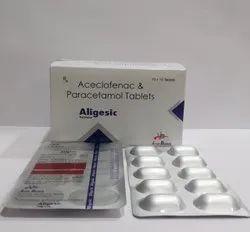 Aceclofenac 100mg & Paracetamol 325mg For Hospitals,nursing Homes & Doctors