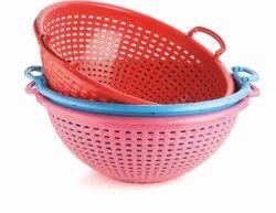 Plastic round fish basket.